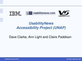 UsabilityNews  Accessibility Project (UNAP)