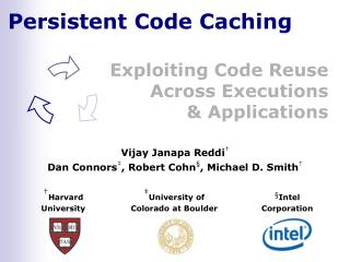 Persistent Code Caching