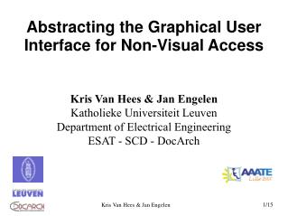 Abstracting the Graphical User Interface for Non-Visual Access