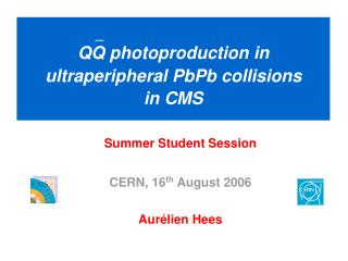 QQ photoproduction in ultraperipheral PbPb collisions in CMS
