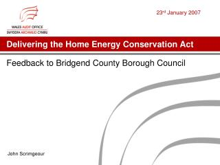 Delivering the Home Energy Conservation Act