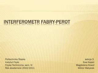 Interferometr  Fabry-perot
