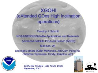 XGOHI (eXtended GOes High Inclination operations)