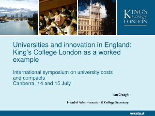 Universities and innovation in England:  King's College London as a worked example