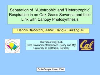 Dennis Baldocchi, Jianwu Tang & Liukang Xu