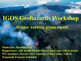 IGOS Geohazards Workshop