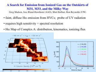 faint, diffuse H a  emission from HVCs;  probe of UV radiation