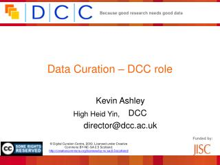 Data Curation – DCC role