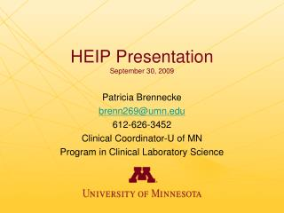 HEIP Presentation September 30, 2009