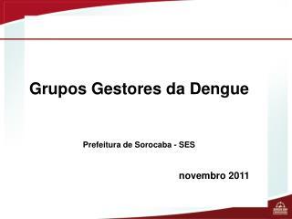 Grupos Gestores da Dengue Prefeitura de Sorocaba - SES