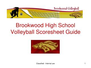 Brookwood High School Volleyball Scoresheet Guide