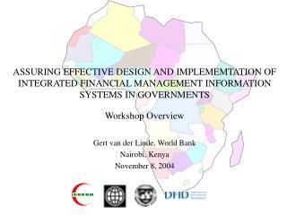 Gert van der Linde, World Bank Nairobi, Kenya November 8, 2004