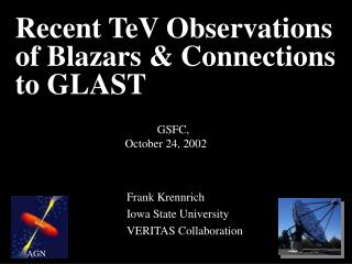 Recent TeV Observations  of Blazars & Connections to GLAST