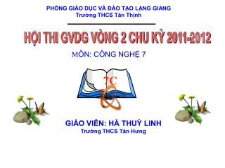 HỘI THI GVDG VÒNG 2 CHU KỲ 2011-2012