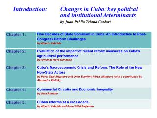 THE ECONOMY OF CUBA  AFTER THE  VI  PARTY  CONGRESS