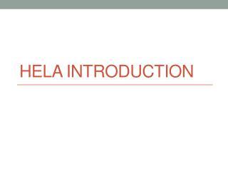 HeLa  introduction