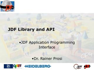 JDF Library and API