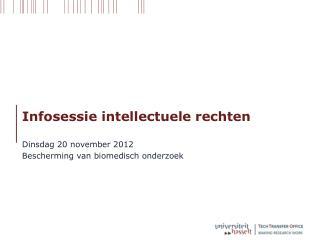 Infosessie intellectuele rechten