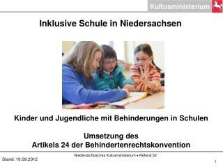 Inklusive Schule in Niedersachsen