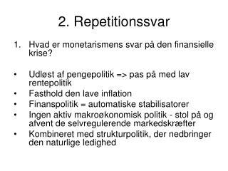 2. Repetitionssvar