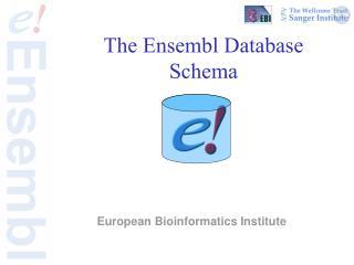 The Ensembl Database Schema