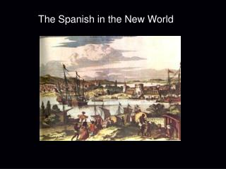 The Spanish in the New World