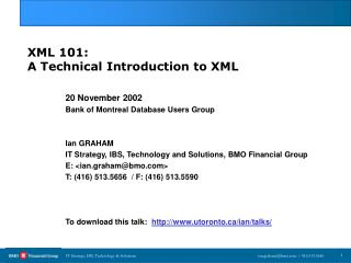 XML 101: A Technical Introduction to XML