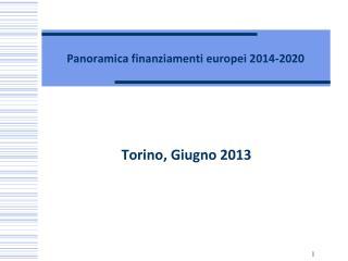 Panoramica finanziamenti europei 2014-2020