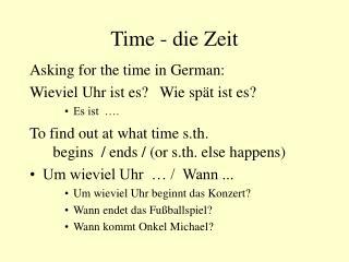 Time - die Zeit