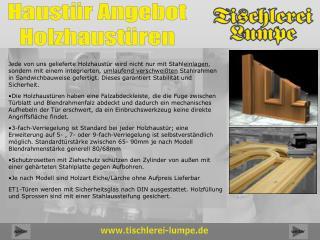 Haustür Angebot Holzhaustüren