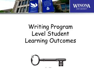 Writing Program Level Student Learning Outcomes
