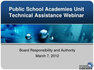 Public School Academies Unit Technical Assistance Webinar