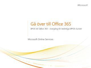 G� �ver till Office 365