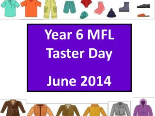 Year 6 MFL Taster Day  June 2014