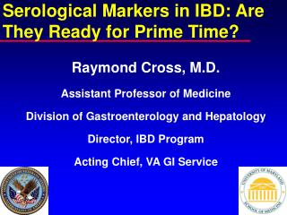 Serological Markers in IBD: Are They Ready for Prime Time