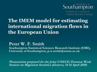 The IMEM model for estimating international migration flows in the European Union