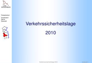 Verkehrssicherheitslage 2010