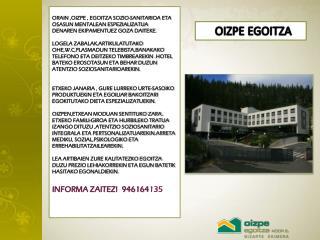 OIZPE EGOITZA