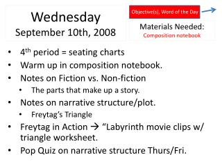 Wednesday September 10th, 2008