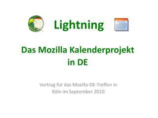 Lightning Das Mozilla Kalenderprojekt in DE