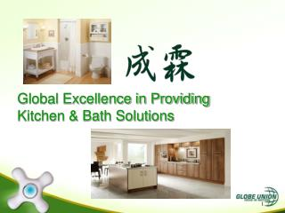 Global Excellence in Providing Kitchen & Bath Solutions