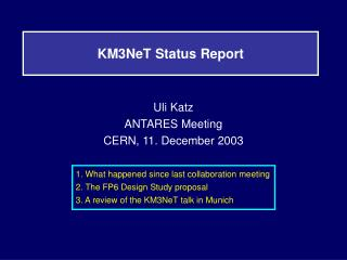 KM3NeT Status Report