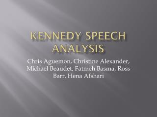 Kennedy speech analysis