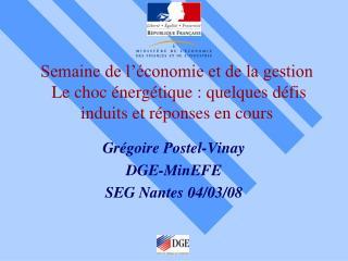 Grégoire Postel-Vinay DGE-MinEFE SEG Nantes 04/03/08