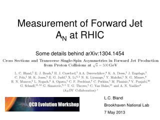 Measurement of Forward Jet A N  at RHIC