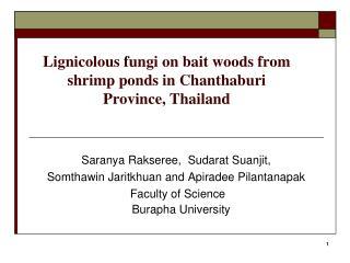 Lignicolous fungi on bait woods from shrimp ponds in Chanthaburi Province, Thailand