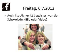 Auch Ilse Aigner ist begeistert von der Schokolade. (Bild oder Video)