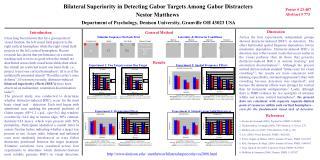 Bilateral Superiority in Detecting Gabor Targets Among Gabor Distracters