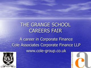 THE GRANGE SCHOOL CAREERS FAIR