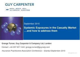 Systemic Exposures in the Casualty Market  and how to address them